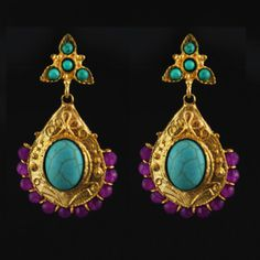 Antique Earrings Turquoise, now featured on Fab.