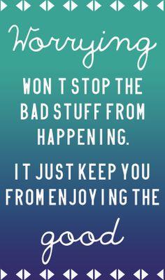 #quote #worrying #good #citação #frase http://palavrasaleatorias.blogspot.com.br/