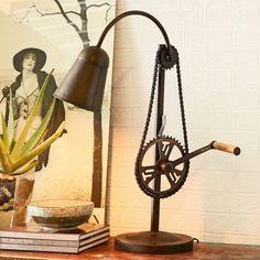Bonsoni Bike Chain Vintage Metal Industrial Lamp by Bonsoni Metal Industrial, Industrial Style Lighting, Vintage Lighting, Cool Lighting, Boho Bedroom Decor, Bike Chain, Steampunk Lamp, Cool House Designs, Vintage Metal