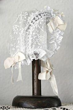 Vintage lace bonnet...