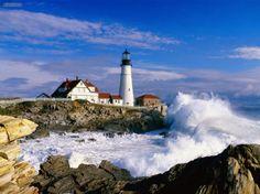 Portland Head Light Station.  Cape Elizabeth, Maine