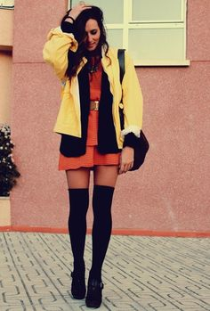 love the knee high socks for when you want to wear a dress in early spring when it's still a tad chilly