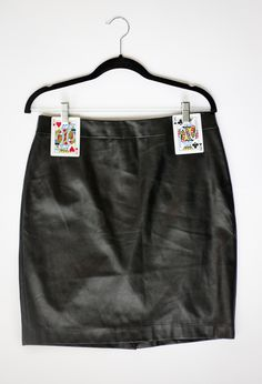 How to hang your leather skirts without the clips leaving a mark - genius!