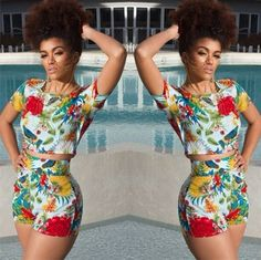 ada9c34693c ... bodysuit women Suppliers  Bodysuit Women New Fashion 2016 Summer Spring  Sexy Bodycon Jumpsuit Colorfull Print Top with Pants Playsuits and Jumpsuits