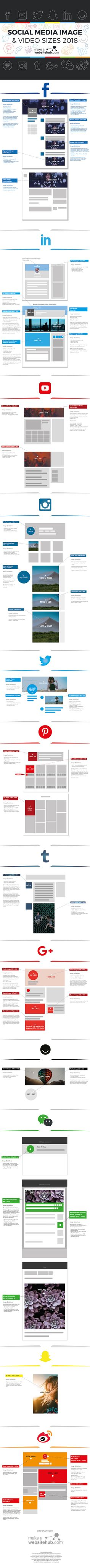 Infographic: 2018 Social Media Image And Video Sizes Cheat Sheet - DesignTAXI.com