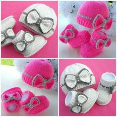 Hat and matching booties