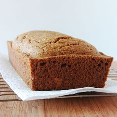 low-fat vegan ginger lemon quick bread