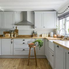 Looking for real homes and house tour ideas? Take a turn around this newly renovated medieval cottage in East Sussex for more inspiration Kitchen Design Gallery, Kitchen Room Design, Home Decor Kitchen, Interior Design Kitchen, Home Kitchens, Cosy Kitchen, Open Plan Kitchen Living Room, Kitchen Dining Living, Cocina Office
