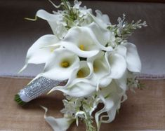 Calla lily wedding bouquet Real touch mini por ChurchMouseCreations