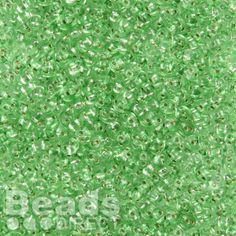 £1.19  Preciosa Twin Hole Seed Beads Silver Lined Green 2.5x5mm 10g