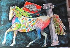 SEE HORSE 2 by Alan Gordon Watercolor ~ 18 inches x 24 inches