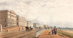 Brighton, the front and the chain pier seen in the distance, c. 1840. Briarwood, the home seat of the hero in Tempting Fate, is near Brighton.