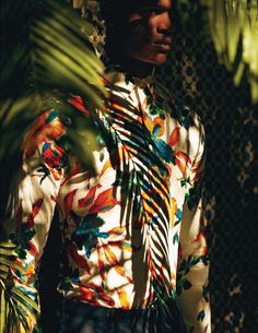 O'Shea Robertson captured by Daniel Riera and styled by Tobias Frericks for the Spring/Summer 2013 issue of GQ Style Germany. Tropical Fashion, Colorful Fashion, Portrait Photography, Fashion Photography, Men Photoshoot, Wedding Photoshoot, Gq Style, Funky Style, Fashion Gallery