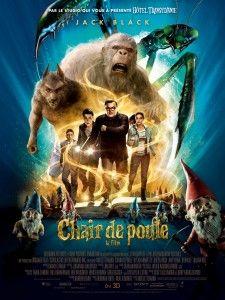 Chair de poule (Goosebumps), réalisé par Rob Letterman avec Jack Black_L'affiche français du film
