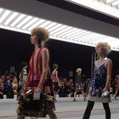 London funk at the Louise Gray show. Photo by the WSJ's Mary Lane. #lfw