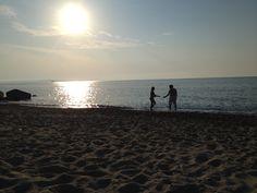 Skipping Rocks on the beach Spadafora, Messina, Sicily