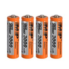 4x MP 1.2V 3000mAh Ni-MH Rechargeable AA Battery