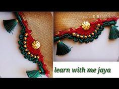 ಸೀರೆ ಕುಚ್ಚು tassels with beads designs tutorial for biginners. Saree Tassels Designs, Saree Kuchu Designs, Blouse Designs, Kali Mata, Saree Border, Antique Necklace, Chrochet, String Art, Design Tutorials