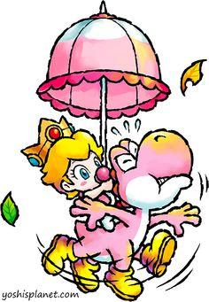 Baby peach and yoshi.