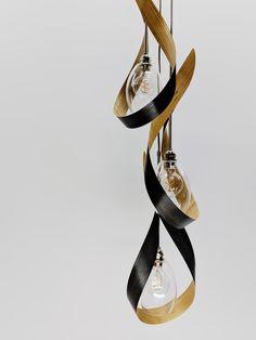 SwoonTre Grey Contemporary Pendant Light by Ericksen Design
