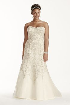Searching for discount wedding dresses? Browse David's Bridal wedding dresses for sale, including discount plus size & designer wedding dresses online now! Bridal Party Dresses, Dresses To Wear To A Wedding, Birthday Dresses, Wedding Dress Styles, Designer Wedding Dresses, Bridal Gowns, Designer Gowns, Wedding Outfits, Plus Size Wedding Gowns