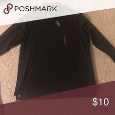 Men's long sleeve black collared t shirt Long sleeve black collared shirt Roundtree & Yorke Shirts Tees - Long Sleeve