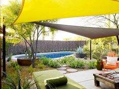 The right wall makes all the difference. Before, with just bleak concrete blocks behind it, the pool... - Provided by TIME Inc.