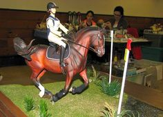 Cross-country equestrianism, eventing - model horse - galloping