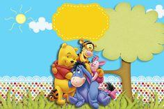 Kit digital Ursinho Pooh grátis para imprimir, Festa tema Ursinho Pooh, personalizados ursinho pooh, scrap ursinho pooh,