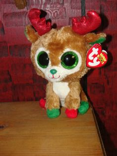 Ty Beanie Boo Christmas Reindeer Alpine Mint with Tags New for 2013   eBay