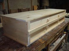 The Rebirth of Death: Natural Burial (and Build Your Own Coffin Plans) Make A Boat, Build Your Own Boat, Furniture Plans, Wood Furniture, Furniture Repair, Woodworking Plans, Woodworking Projects, Halloween Coffin, Funeral Planning