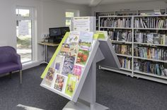 Fabulous new books and display stands, are a feature throughout the library.