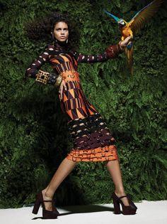 Mariana Santana por Peter e Ingela Farago para Vogue Brasil Março 2015 [Editorial]