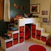 Handmade twin sized batmobile bed projects pinterest - Escalera cama infantil ...