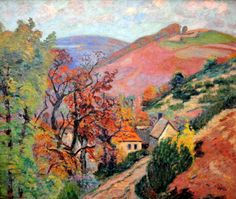 Armand Guillaumin (French, 1841-1927), Mountain Landscape - Pontgibaud, village in Peschadoire, c. 1895, oil on canvas, Neue Pinakothek, Munich, Germany.