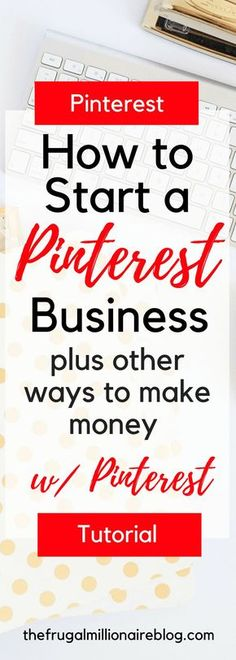 How to make extra money with Pinterest. Start a Pinterest business, ways to make money online.