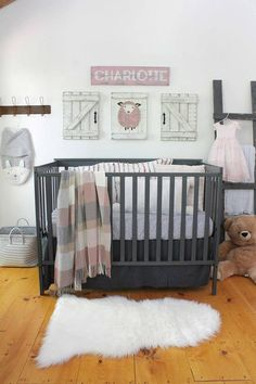 This 3 piece set of baby sheep nursery decor is the perfect modern farmhouse touch for any nursery--above the crib, changing table or anywhere! The set includes a jute string art sheep and two barn doors. Each piece measures 18 high and 14 wide. The sheep is painted on to a wood slat canvas and then strung with jute. The pieces are then hand distressed using our unique technique. Decorative nails complete the rustic look! Ready to hang with hanging wire already attached. CHOOSE YOUR OWN…