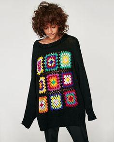Transcendent Crochet a Solid Granny Square Ideas. Inconceivable Crochet a Solid Granny Square Ideas. Pull Crochet, Mode Crochet, Crochet Lace, Crochet Granny, Crochet Motif, Motifs Granny Square, Granny Square Sweater, Granny Squares, Square Blanket