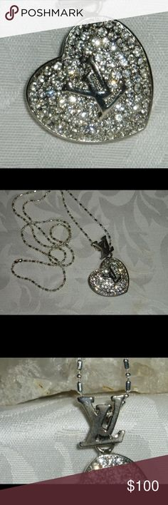 """Authentic Vintage Sterling Louis Vuitton Necklace Beautiful Authentic Sterling Silver Vintage Louis Vuitton Necklace. It is 30"""" Long. I polished it so it is wear ready. Please feel free to message me anytime if you should have any additional questions😀💜 I ship every morning so no wait time! An exceptional shopping experience guaranteed.                                                         Love, The Louis Lady 👜 Louis Vuitton Jewelry Necklaces"""