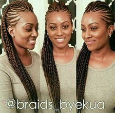 Women enjoy wearing box braids because these braids not only allow them to extend the length of their hair, but they can also wear different hairstyles with box braids. Braided Mohawk Hairstyles, African Hairstyles, Braided Mohawk Black Hair, Kid Hairstyles, Protective Hairstyles, Mohawk Braid Styles, Braided Ponytail, Black Hairstyles, Natural Hair Braids