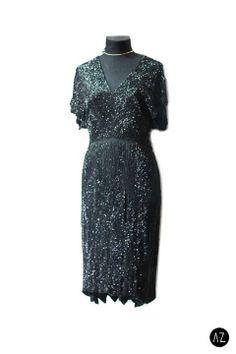 Vestido vintage charleston negro #fashion