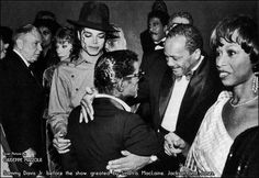 Frank Sinatra, Shirley McLaine, Richard Pryor, Michael Jackson, Sammy Davis, Jr., Quincy Jones.