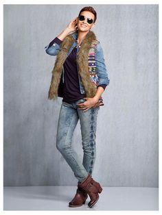 #Weste #Jeansjacke #Jeans