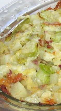 Polish Cabbage-Potato-Bacon Casserole Recipe - Kapusta