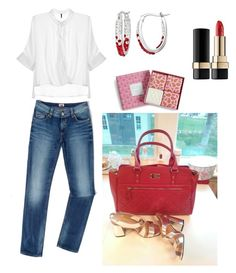 """Red Lipstick"" by closetdemiamiga on Polyvore featuring Tommy Hilfiger, Sterling, Vera Bradley and Dolce&Gabbana"