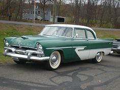 1956 Plymouth... much better looking car than the Chevy of the time