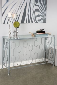Aura Console Table - Silver by Posh Home Accents on @HauteLook