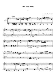 Free sheet music : Rossini, Gioacchino - Six Duet for clarinets on Rossini Opera Clarinets (Duet)) Download Sheet Music, Free Sheet Music, Clarinet Sheet Music, Clarinets, Opera, Clarinet, Opera House
