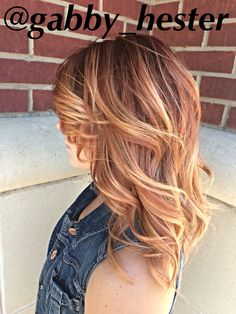 Red to blonde balayage using pravana color and the pravana express toner in copper! Hair by Gabby Hester!