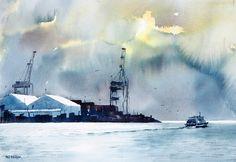 Phil Dickson - artist based in Lower Hutt Valley, Wellington, New Zealand Wellington New Zealand, New Zealand Art, Art Academy, Art Club, Community Art, Home Art, Clouds, Watercolor, Gallery